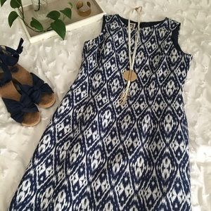Anne Klein Ikat Pattern Sheath Dress, Size 8